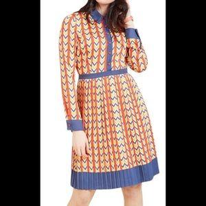 ModCloth primary retro chevron dress